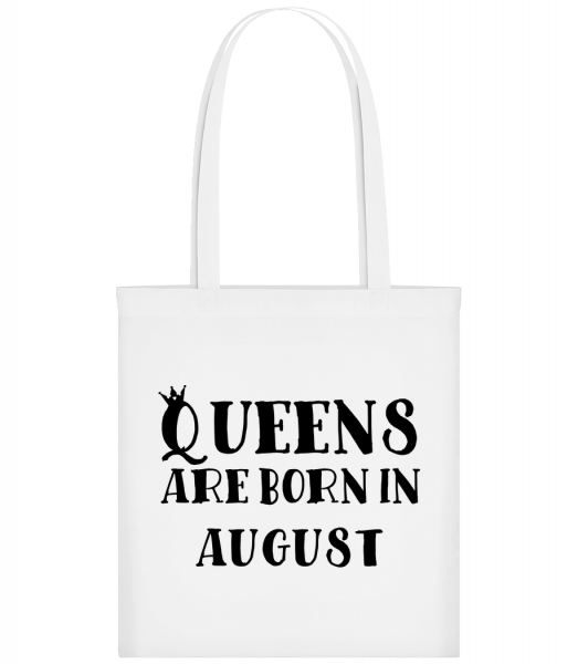 Queens Are Born In August - Carrier Bag - White - Vorn