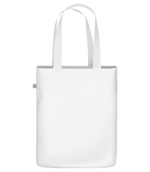 """Organic """"Earth Positive"""" tote bag - White - Front"""