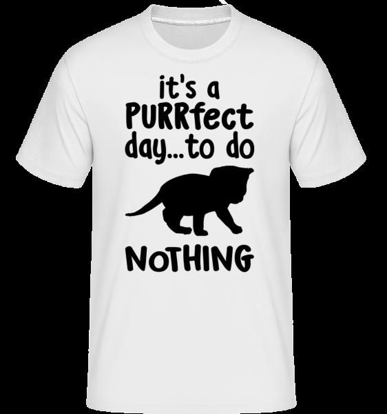 It's A Purrfect Day - Shirtinator Männer T-Shirt - Weiß - Vorn
