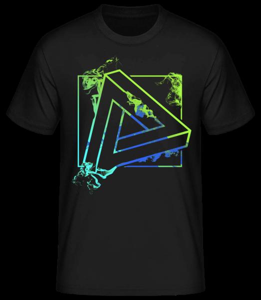 Unmögliches Dreieck - Basic T-Shirt - Schwarz - Vorn