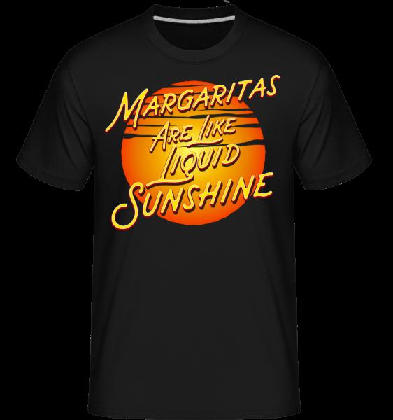 Margaritas Are Liquid Sunshine - Shirtinator Männer T-Shirt - Schwarz - Vorn
