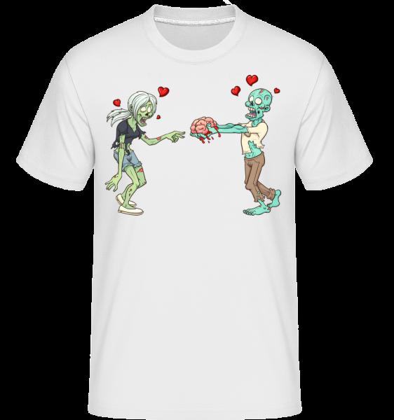 Zombies In Love -  Shirtinator Men's T-Shirt - White - Vorn