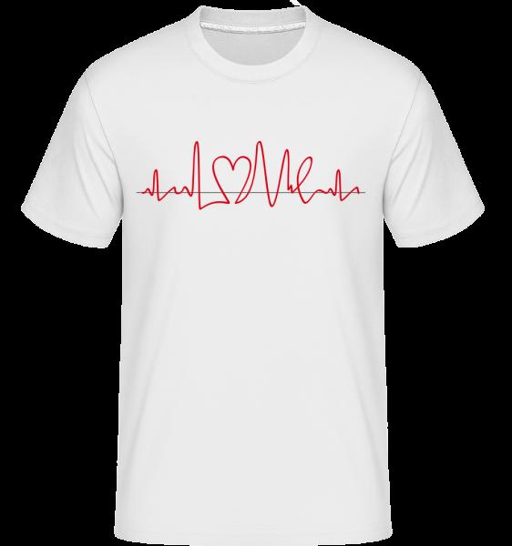 Herzfrequenz - Shirtinator Männer T-Shirt - Weiß - Vorn