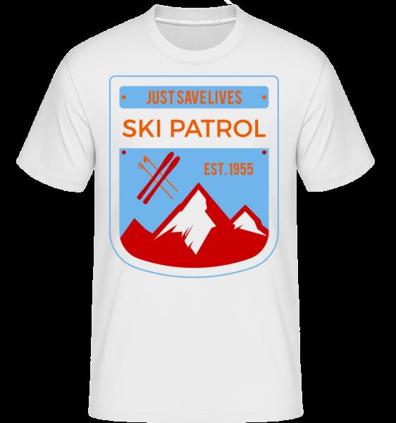Ski Patrol Sign - Shirtinator Männer T-Shirt - Weiß - Vorn