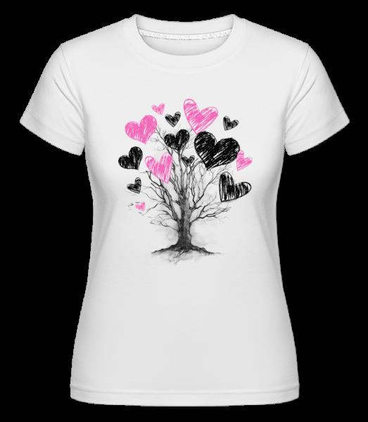 Herzbaum - Shirtinator Frauen T-Shirt - Weiß - Vorn
