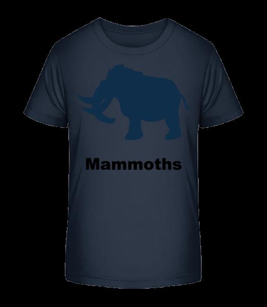 Mammoths - Kid's Premium Bio T-Shirt - Navy - Front