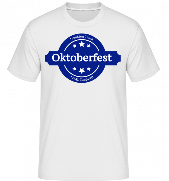 Drinking Team Oktoberfest -  Shirtinator Men's T-Shirt - White - Front