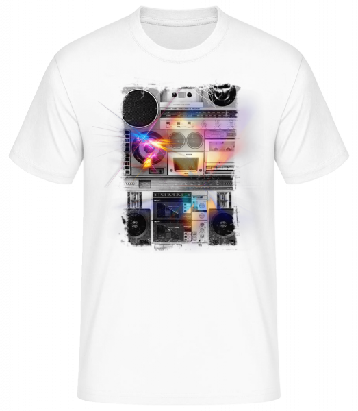 Ghettoblaster - Basic T-Shirt - Weiß - Vorn