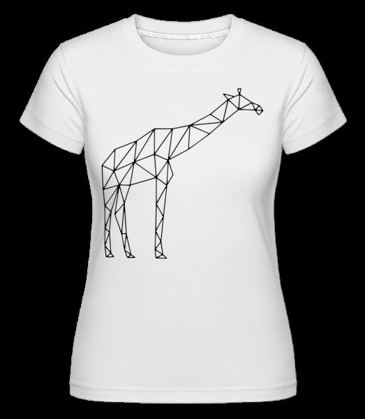 Polygon Giraffe - Shirtinator Frauen T-Shirt - Weiß - Vorn