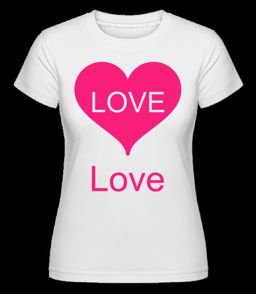 Love Heart - Shirtinator Frauen T-Shirt - Weiß - Vorn