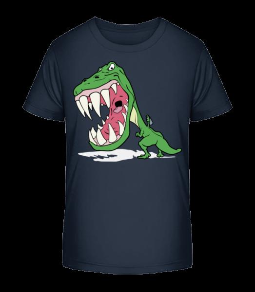 Dinosaur Kids Green - Kinder Premium Bio T-Shirt - Marine - Vorn