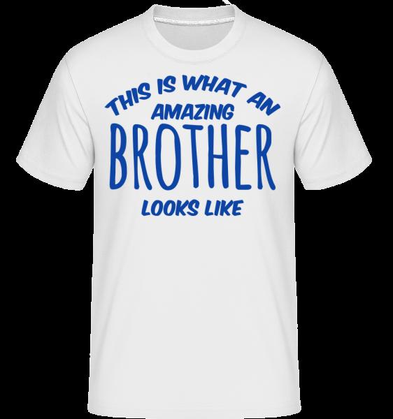 Amazing Brother Looks Like - Shirtinator Männer T-Shirt - Weiß - Vorn