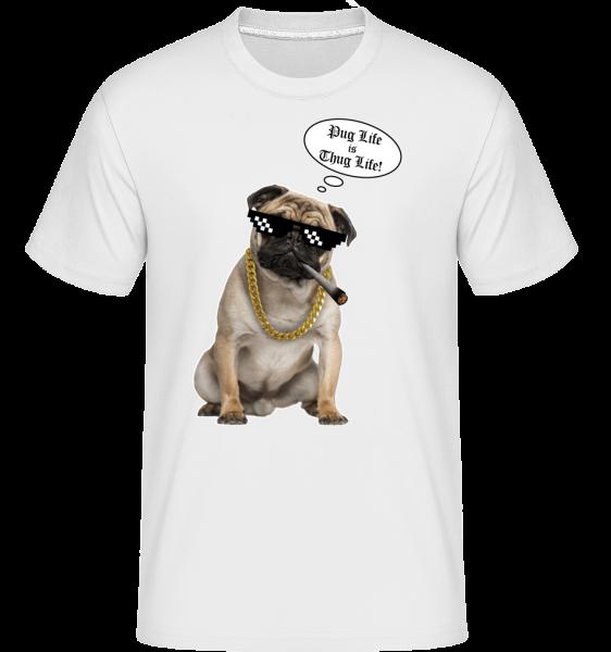 Pug Life Thug Life -  Shirtinator Men's T-Shirt - White - Vorn