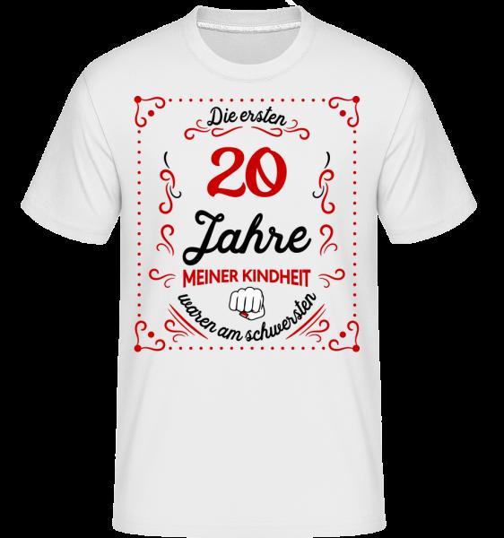 Die Ersten 20 Jahre - Shirtinator Männer T-Shirt - Weiß - Vorn