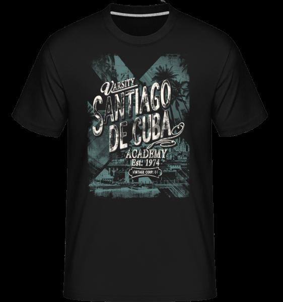 Varsity Santiago De Cuba -  Shirtinator Men's T-Shirt - Black - Vorn