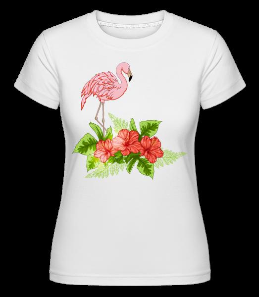 Flamingo In Paradise -  Shirtinator Women's T-Shirt - White - Vorn