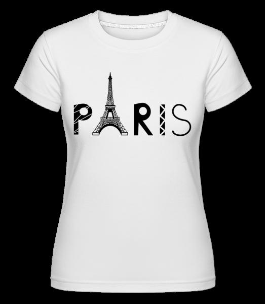 Paris France - Shirtinator Frauen T-Shirt - Weiß - Vorn
