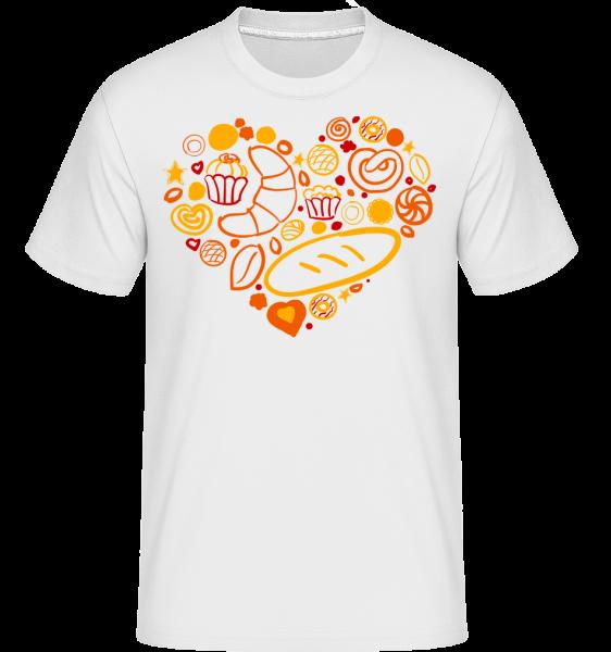 Frühstück Herz - Shirtinator Männer T-Shirt - Weiß - Vorn