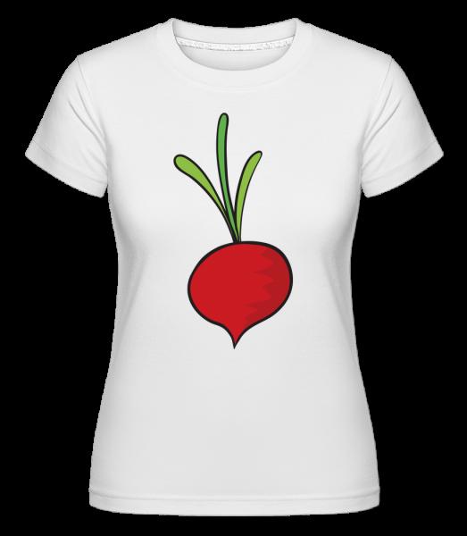 Radish Comic - Shirtinator Women's T-Shirt - White - Vorn