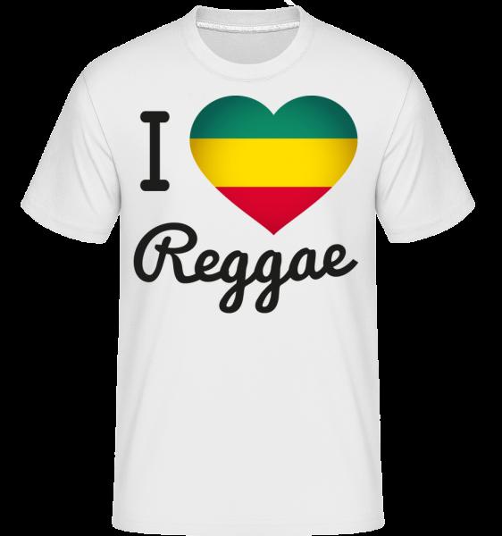 I Love Reggae -  Shirtinator Men's T-Shirt - White - Vorn