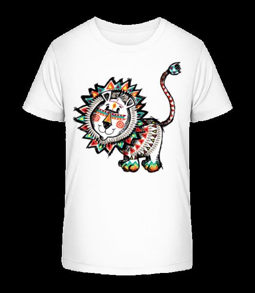 Indiander Löwe - Kinder Premium Bio T-Shirt - Weiß - Vorn