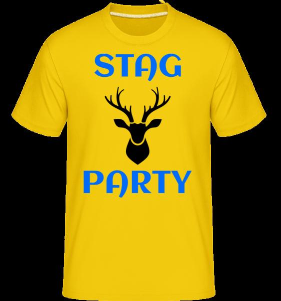 Stag Party - Shirtinator Männer T-Shirt - Goldgelb - Vorn