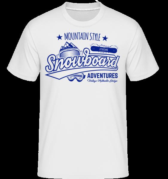 Snowboarding Mountain Style Logo -  Shirtinator Men's T-Shirt - White - Vorn