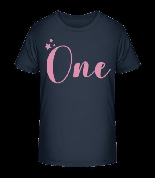 One - Kinder Premium Bio T-Shirt - Marine - Vorn