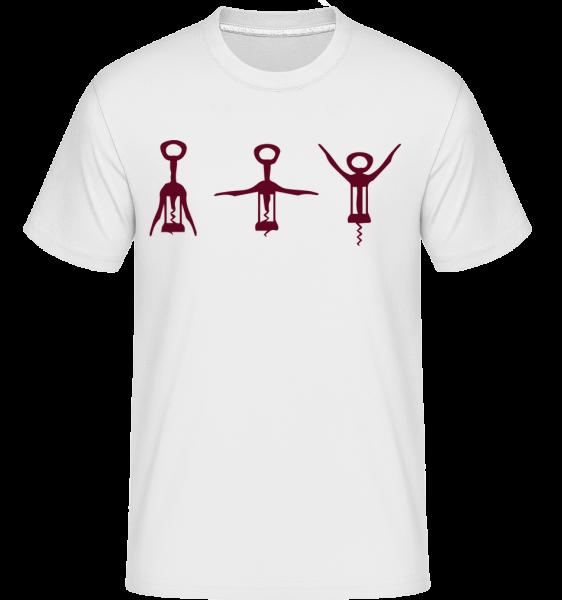 Corkscrew -  Shirtinator Men's T-Shirt - White - Vorn