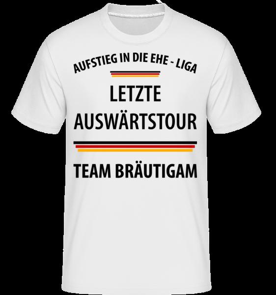 Letzte Tour Team Bräutigam - Shirtinator Männer T-Shirt - Weiß - Vorn