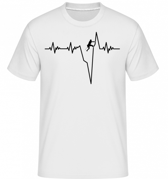 Bouldering Heartbeat -  Shirtinator Men's T-Shirt - White - Vorn