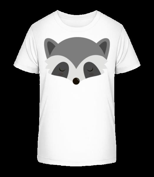 Racoon Comic - Kid's Premium Bio T-Shirt - White - Front