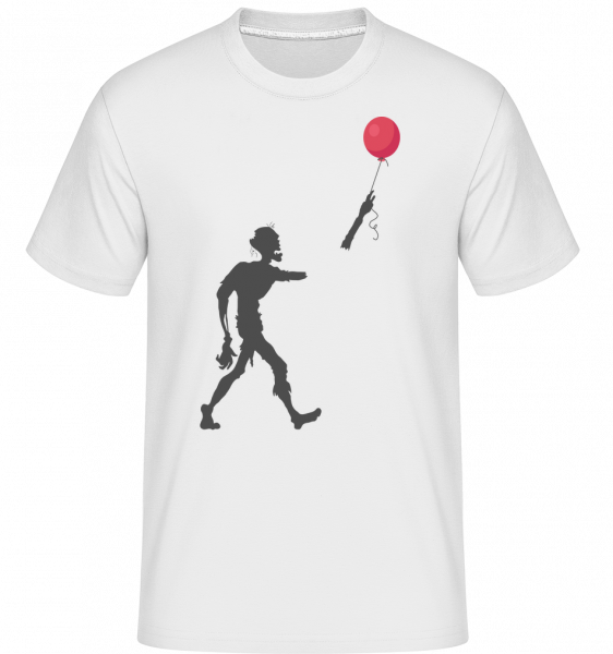 Zombie Balloon -  Shirtinator Men's T-Shirt - White - Vorn
