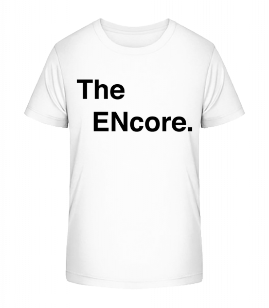 The Encore - Kinder Premium Bio T-Shirt - Weiß - Vorn