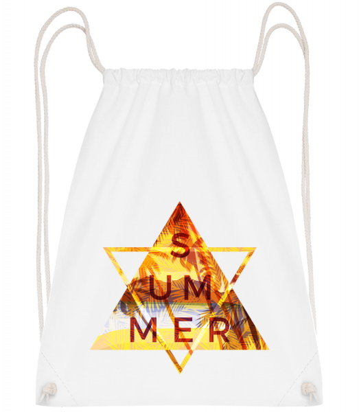 Summer Icon Triangle - Drawstring Backpack - White - Vorn
