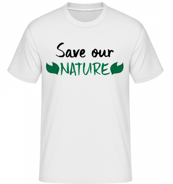 Save Our Nature -  Shirtinator Men's T-Shirt - White - Vorn