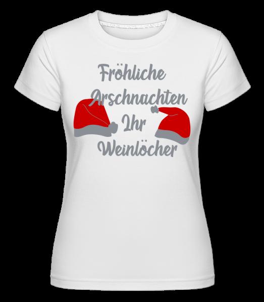 Fröhliche Arschnachten - Shirtinator Frauen T-Shirt - Weiß - Vorn