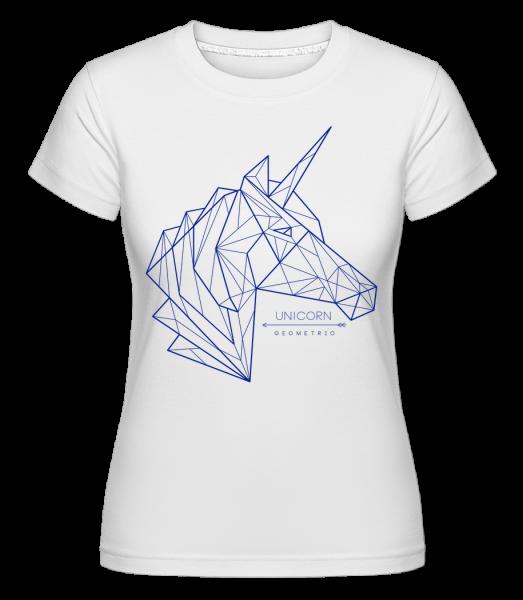 Geometrie Einhorn - Shirtinator Frauen T-Shirt - Weiß - Vorn