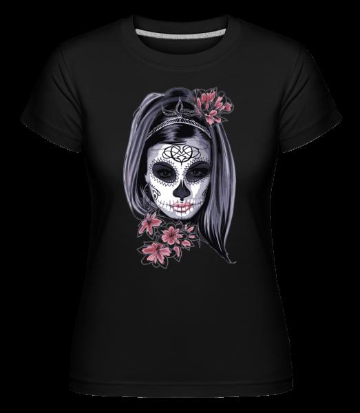 Scary Girl Mask -  Shirtinator Women's T-Shirt - Black - Vorn
