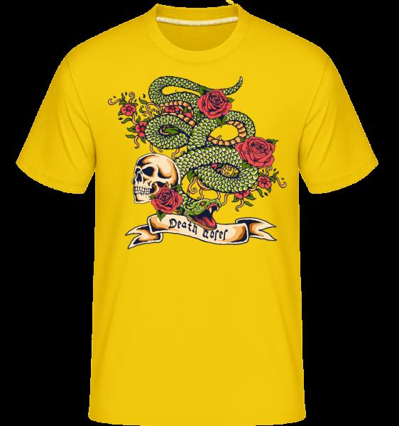 First Sin -  Shirtinator Men's T-Shirt - Golden yellow - Front