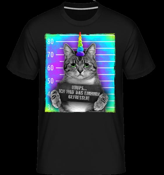 Ich Habe Das Einhorn Gefressen - Shirtinator Männer T-Shirt - Schwarz - Vorn
