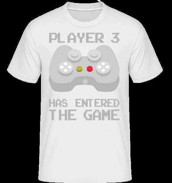 Player 3 Entered The Game - Shirtinator Männer T-Shirt - Weiß - Vorn