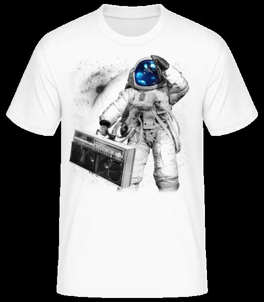 Ghettoblaster Astronaut - Men's Basic T-Shirt - White - Front