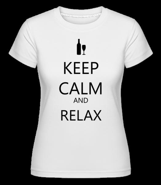 Keep Calm And Relax -  Shirtinator Women's T-Shirt - White - Vorn