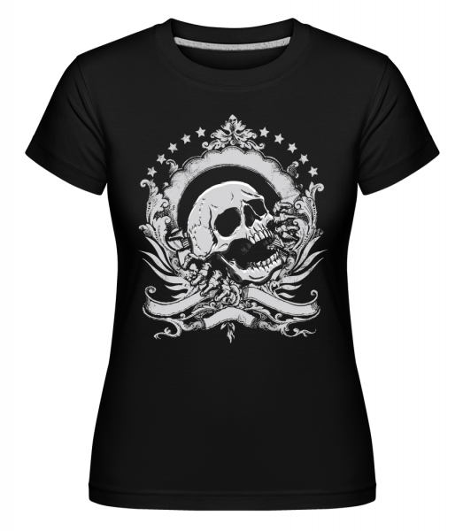 Totenkopf Logo - Shirtinator Frauen T-Shirt - Schwarz - Vorn