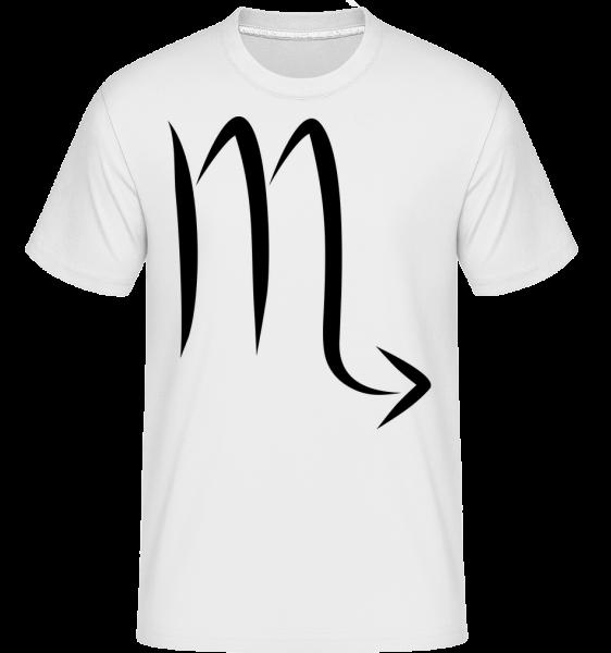 Skorpion Zeichen - Shirtinator Männer T-Shirt - Weiß - Vorn