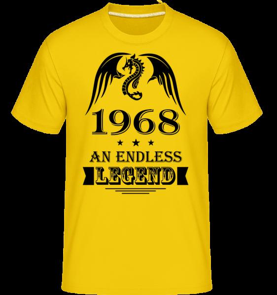 Endless Legend 1968 - Shirtinator Männer T-Shirt - Goldgelb - Vorn