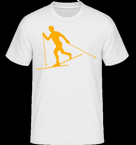 Skier -  Shirtinator Men's T-Shirt - White - Vorn