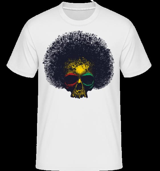 Reggae Skull -  Shirtinator Men's T-Shirt - White - Vorn