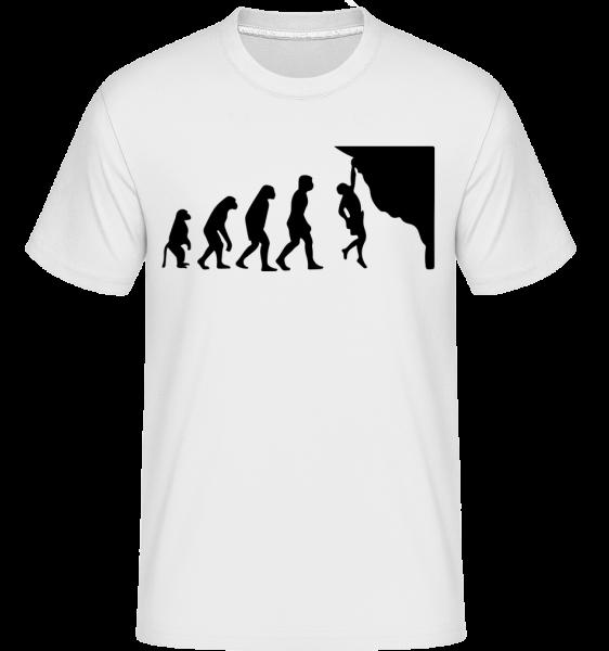 Bouldern Evolution - Shirtinator Männer T-Shirt - Weiß - Vorn